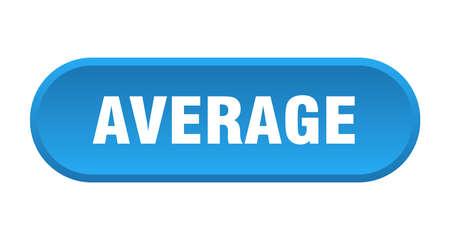 average button. average rounded blue sign. average