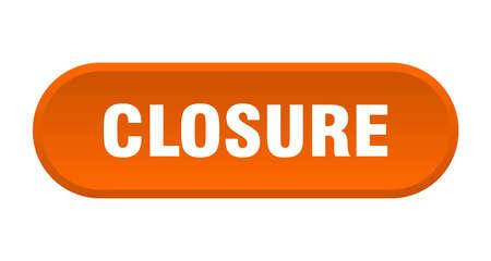 closure button. closure rounded orange sign. closure