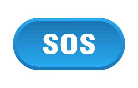 sos button. sos rounded blue sign. sos 일러스트