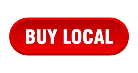 buy local button. buy local rounded red sign. buy local Иллюстрация