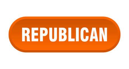 republican button. republican rounded orange sign. republican
