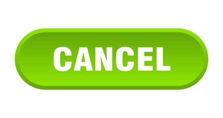 cancel button. cancel rounded green sign. cancel Foto de archivo - 129838127