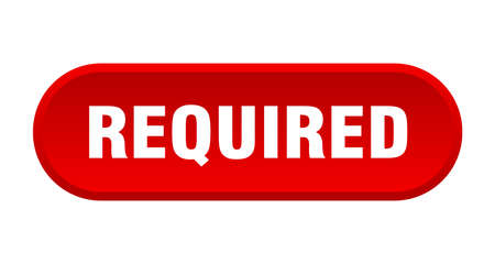 required button. required rounded red sign. required