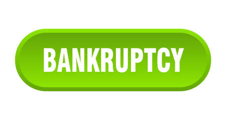 bankruptcy button. bankruptcy rounded green sign. bankruptcy Çizim