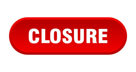 closure button. closure rounded red sign. closure