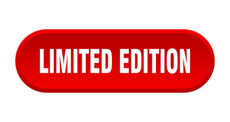 limited edition button. limited edition rounded red sign. limited edition