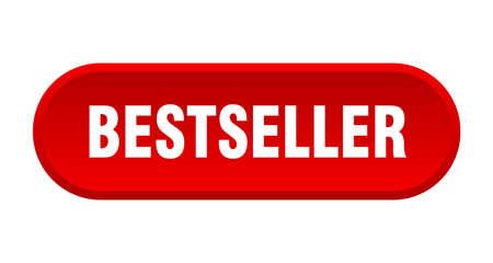 botón de bestseller. bestseller redondeado signo rojo. Mejor vendido