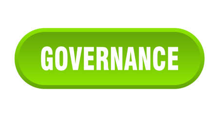 governance button. governance rounded green sign. governance