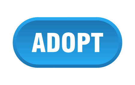 adopt button. adopt rounded blue sign. adopt