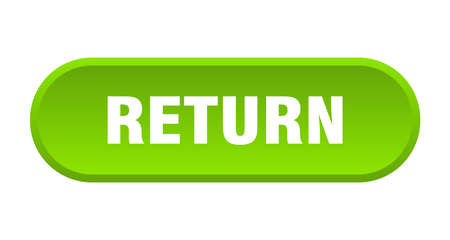return button. return rounded green sign. return Stok Fotoğraf - 129808832