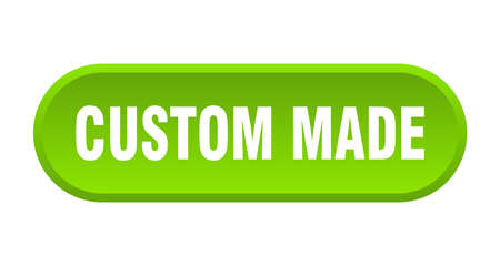 custom made button. custom made rounded green sign. custom made Çizim