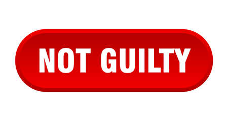 not guilty button. not guilty rounded red sign. not guilty  イラスト・ベクター素材