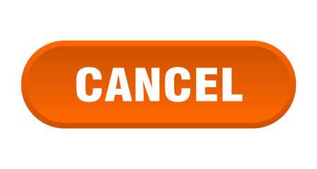 cancel button. cancel rounded orange sign. cancel Foto de archivo - 129838643