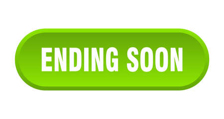 ending soon button. ending soon rounded green sign. ending soon Stok Fotoğraf - 129808845