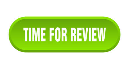 time for review button. time for review rounded green sign. time for review Stok Fotoğraf - 129808873
