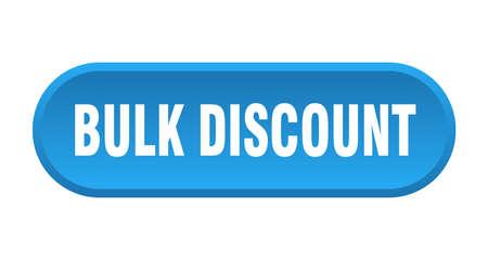 bulk discount button. bulk discount rounded blue sign. bulk discount 矢量图像