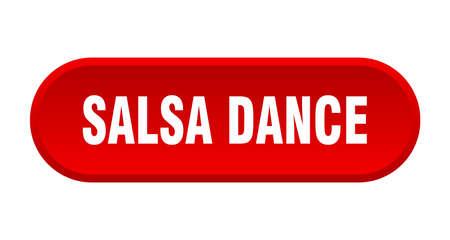 salsa dance button. salsa dance rounded red sign. salsa dance