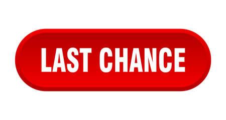 last chance button. last chance rounded red sign. last chance Ilustração