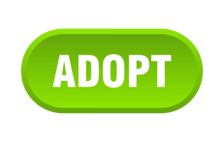 adopt button. adopt rounded green sign. adopt Illustration