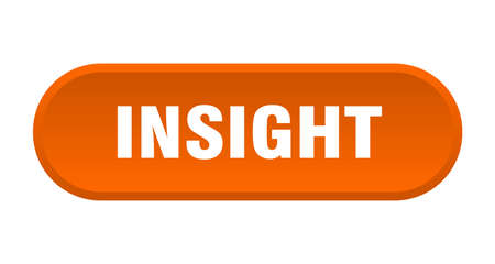 insight button. insight rounded orange sign. insight Stock Illustratie