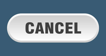 cancel button. cancel rounded white sign. cancel Foto de archivo - 129839183