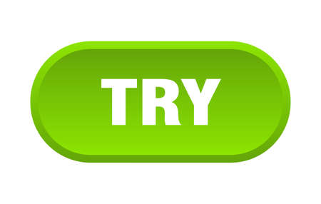 try button. try rounded green sign. try