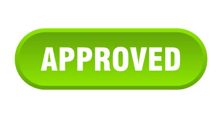 approved button. approved rounded green sign. approved Ilustração