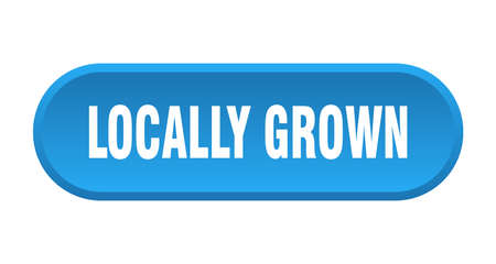 locally grown button. locally grown rounded blue sign. locally grown Иллюстрация