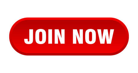 join now button. join now rounded red sign. join now