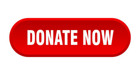 donate now button. donate now rounded red sign. donate now