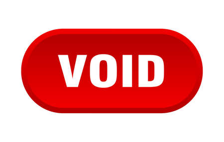 void button. void rounded red sign. void