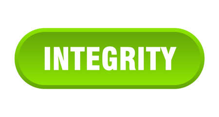 integrity button. integrity rounded green sign. integrity Çizim