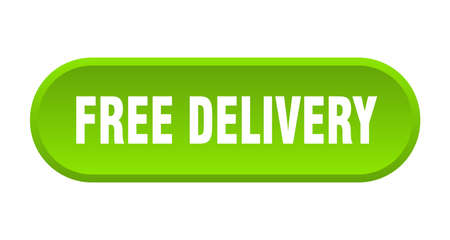free delivery button. free delivery rounded green sign. free delivery Çizim