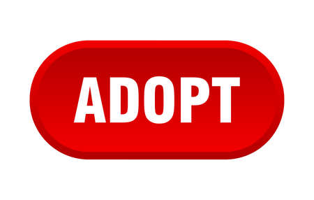 adopt button. adopt rounded red sign. adopt Illustration