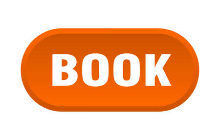 book button. book rounded orange sign. book