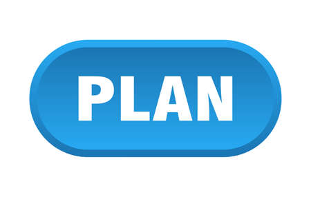 plan button. plan rounded blue sign. plan