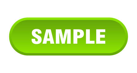 sample button. sample rounded green sign. sample