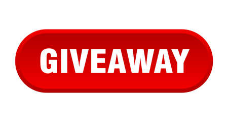 giveaway button. giveaway rounded red sign. giveaway