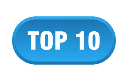 top 10 button. top 10 rounded blue sign. top 10  イラスト・ベクター素材