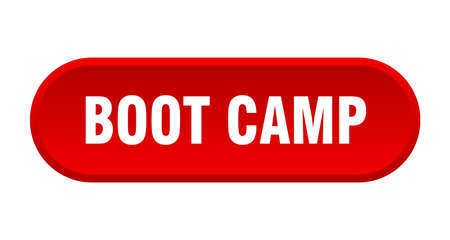boot camp button. boot camp rounded red sign. boot camp