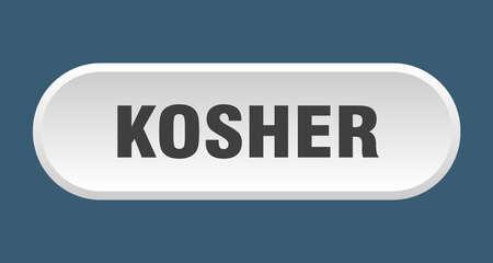 kosher button. kosher rounded white sign. kosher Stock Vector - 129809387