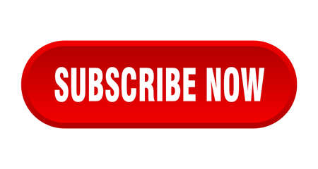 subscribe now button. subscribe now rounded red sign. subscribe now
