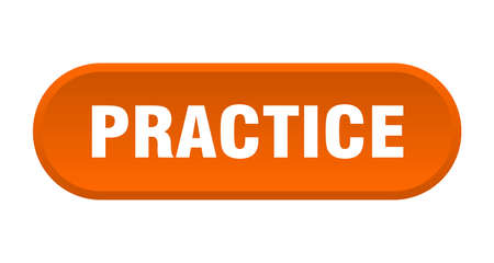 practice button. practice rounded orange sign. practice  イラスト・ベクター素材