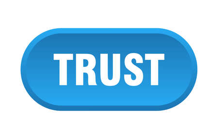 trust button. trust rounded blue sign. trust