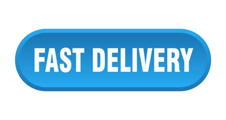 fast delivery button. fast delivery rounded blue sign. fast delivery  イラスト・ベクター素材
