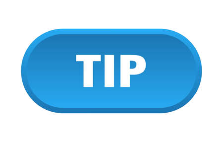 tip button. tip rounded blue sign. tip