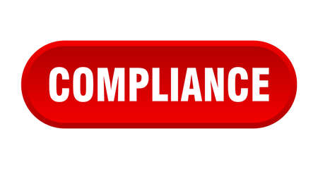 compliance button. compliance rounded red sign. compliance  イラスト・ベクター素材