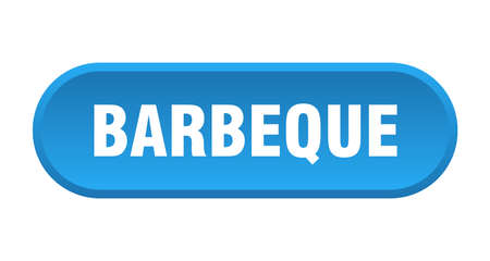 barbeque button. barbeque rounded blue sign. barbeque