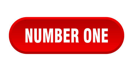 number one button. number one rounded red sign. number one  イラスト・ベクター素材