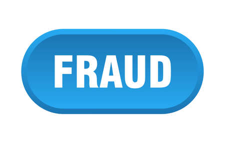 fraud button. fraud rounded blue sign. fraud